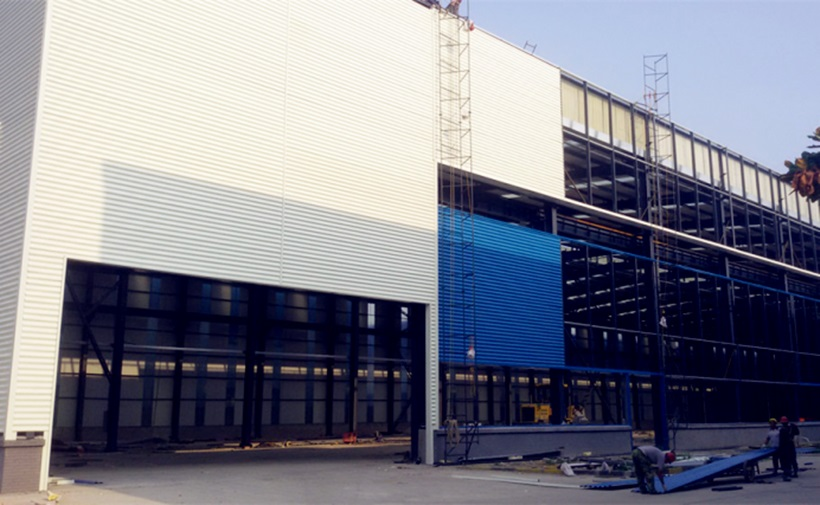 THE FIRST TRAIN 4S SHOP IN CHINA STEEL STRUCTURE PROJECT