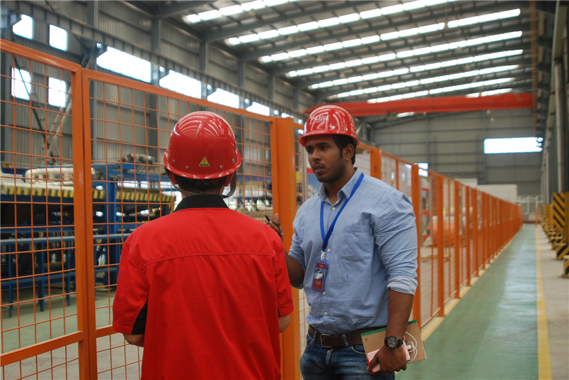 Qatar customer visit BRD for sandwich panel