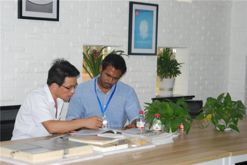Qatar customer visit BRD for sandwich panel 4
